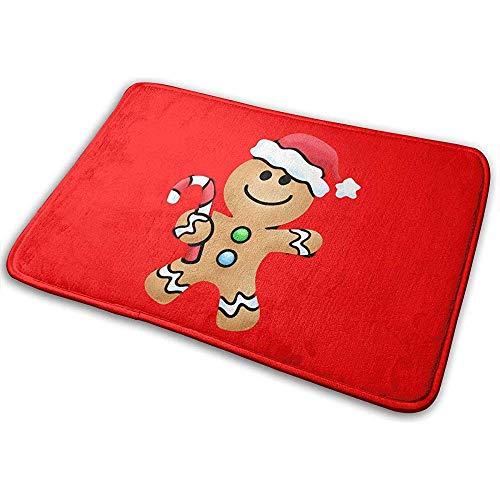 Joe-shop Gingerbread Man Kerst Hoed Snoep Riet Gooi Gebied Grond Mat Accent Floor Party Buiten Set Restroom Keuken Deurmat