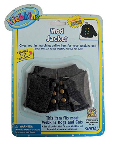 WE000330 - WZ 2.5'' MOD JACKET Webkinz Clothes New Code Sealed With Tag