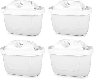 iTrunk Maxtra+ Filtrantes pour Tous Vieux Les Fltres à Eau Brita, Lot de 4 sans BPA Carafe Filtre avec Charbon pour réduir...