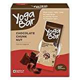 Yogabar Chocolate Chunk Multigrain-Energy Bars - Healthy Diet Snacks with Almonds, Oats and Millets, Gluten Free and High Protein Crunchy Nut Bar, Packed with Chia and Sunflower Seeds (10 Bars)