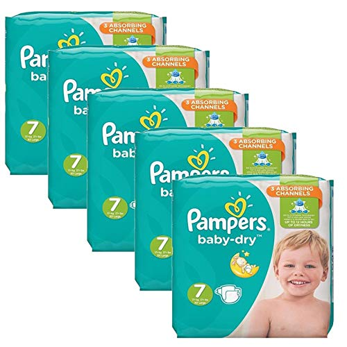 Couches Pampers - Taille 7 baby dry - 210 couches bébé