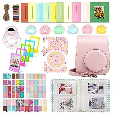 WOGOZAN Accessories Bundle Compatible with fujifilm instax Mini 11 Instant Film Camera for Kids Include Photo Album + case + More (Blush Pink)