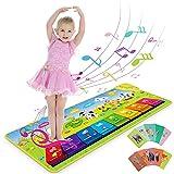 Tappeto Musicale Bambini, RenFox Tappeti Musicali Pianoforte, Tappetino per Tappeti Touch Play Tastiera Coperta Strumento Musicale Educativo Regali Giocattolo per Bambini Piccoli