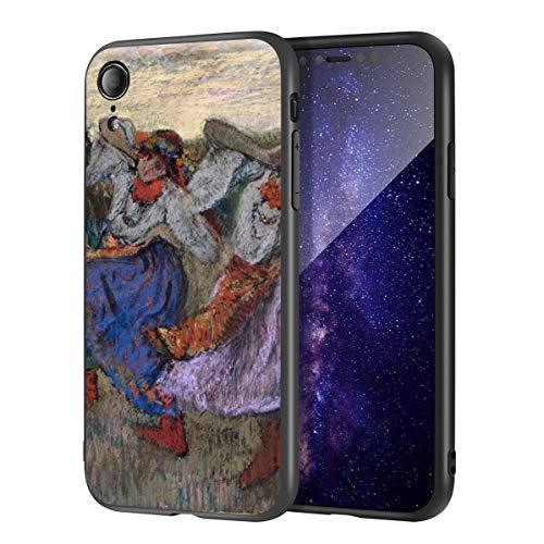 Edgar Degas Custodia per iPhone XR/Custodia per Cellulare Belle Arti/Stampa giclée a Livello UV sulla Cover del Telefono Cellulare(Ruso Bailarines)