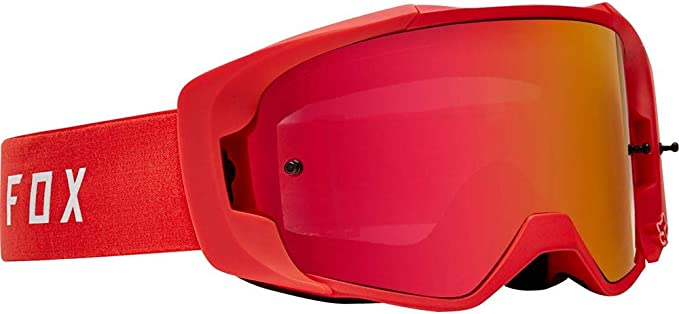 Fox Gogle Vue Red Glass Red Spark Auto