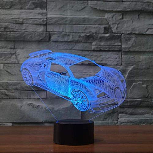 3D Illusion Lamp Led Night Light Car USB 7 Colors Changing Remote Control Touch Switch Interior Bedroom Party Decor Room Decoration Sleep Lamp Children
