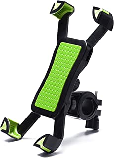 AIJIA Beautiful Bike Phone Holder Handlebar Clip Non-slip 360 Rotate Bicycle Stand Mount Bracket for 3.5-6.5 Inch Mobile P...