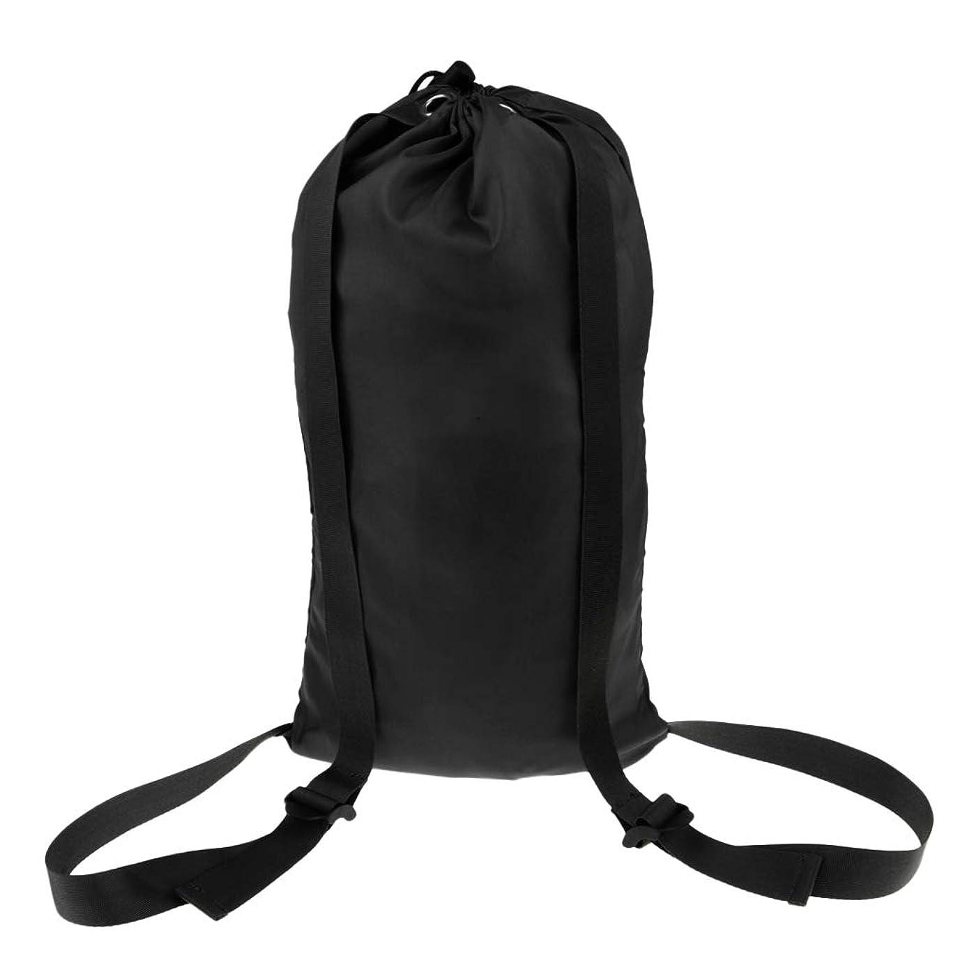 連結するかける細部DYNWAVE 全3色 防水バッグ ビーチバックパック 水泳巾着袋 スイミング カヤック 漂流 セーリング用 軽量 - ブラック