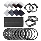 Neewer 67MM Complete Lens Filter Accessory Kit: UV,CPL,FLD Filters+Macro Close-up Filters (+1,+2,+4,+10)+ND2,ND4,ND8 Neutral Density Filters+Lens Hood+Lens Cap+Filter Carry Pouch