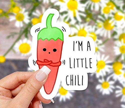 I'm A Little Chili Vinyl Sticker