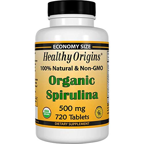 Healthy Orgins Organic and Kosher Spirulina Tablets, 500 Mg, 720 Count