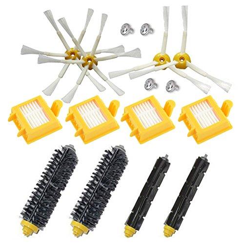 aotengou Kit d'accessoires pour aspirateur iRobot Roomba 700 Series 760 770 780 790, Brosse à Poils, Brosse de Batteur Flexible, Hepa Fiters et 6 Pinceaux à 3 Bras (pièces de Rechange)