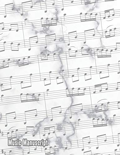 Music Manuscript: Blank Sheet Music Composition and Notation Notebook /Staff Paper/Music Composing / Songwriting/Piano/Guitar/Violin/Keyboard Journal (Large 120 Pages 8.5×11)