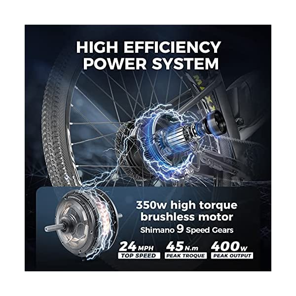 eAhora APUS 26in Carbon Fiber Electric Mountain Bike System
