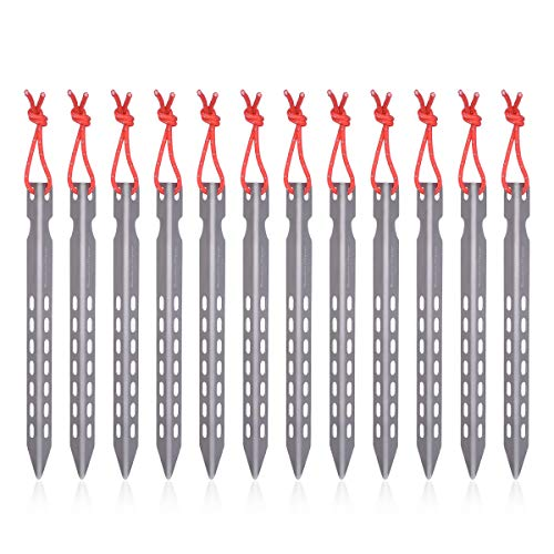 iBasingo Titanium Pegs Ultralight V-shape Tent Stakes Pegs Outdoor Camping Tent Accessories Portable Pegs Tent Nails 6/8/12 pieces/lot Ti1524I