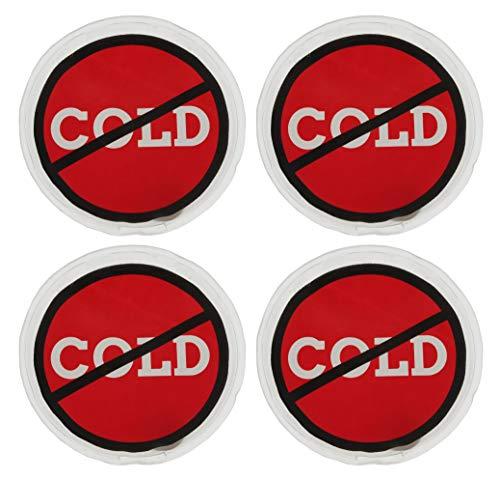MIK Funshopping Handwärmer Taschenwärmer Sets (4er-Set Warnzeichen Cold - Kälte Nein Danke)