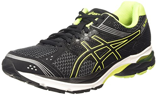 ASICS Gel-Pulse 7, Zapatillas de Running Hombre, Negro (Black/Flash Yellow/Silver 9007), 42 EU