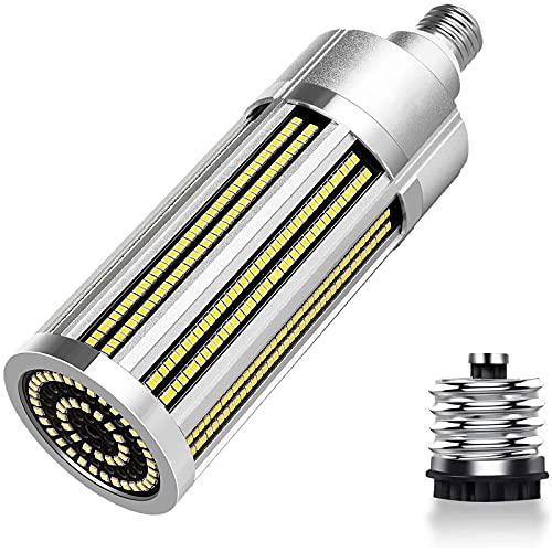 Bombilla de luz LED tipo maíz E27 de 100W con adaptador E40 Bombilla de luz LED súper brillante 800W Equivalente de halógeno de metal Ángulo de haz de 360 ° para exterior Interior Fábrica Almacén G