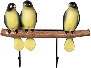Shoes Show Rack Wall Mounted Coat Rack Coat Rack Resin Hook Key Frame Wall Decoration Hook Cute Bird and Branch Decoration...