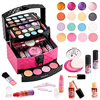 Mathea Real Makeup Girl Toys Washable Kids Makeup Kit for Girls Makeup Set Cosmetic Beauty Set for Kids Makeup Toy for Girls Gift for Kids