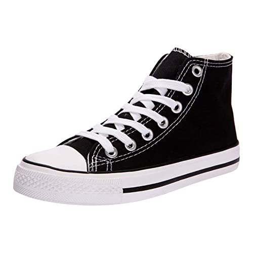 96cd48521003 Womens Ladies Wedge Canvas High Top Trainers Girls Sneakers Casual Sports  Shoes Lace Up Zip