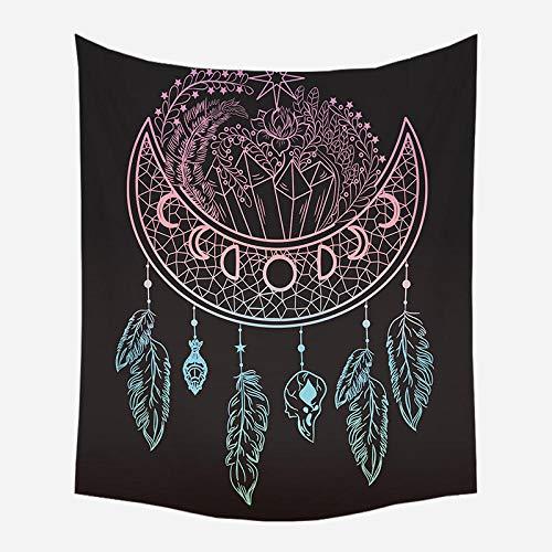 Red de plumas indias tapiz cepillado decoración del hogar tela para colgar en la pared sala de estar fondo de pared cuadrado 150x100CM