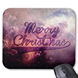 Mousepad Galaxy Letters Merry Christmas Print Mouse Mat