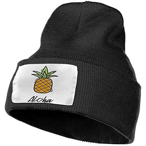 Hawaii Pineapple Green Winter Knitted Caps Sombrero de Punto Suave Gorro cálido para Hombres y Mujeres