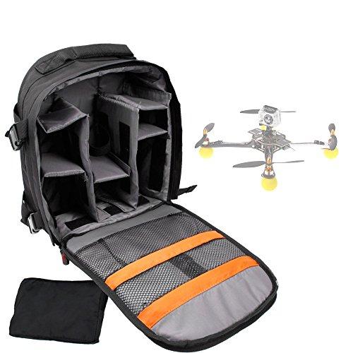DURAGADGET Sac à Dos Noir de Transport pour Mini Drone PNJ DR-50, PNJ Cicada Plus (Elanview), PNJ Smart Fly & LS-Pico et Accessoires - avec Compartiments modulables