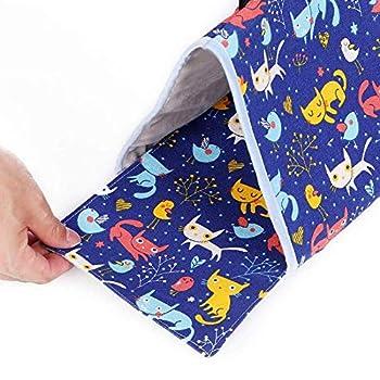 ZffXH Nid d'oiseau douillet à suspendre pour perroquet, niche pour perroquet, tente pour oiseaux inséparables, lit chaud bleu et jaune