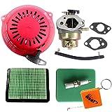HURI Carburateur + Filtre à Air + Lanceur + pour Bougie d'allumage pour Honda GC160 GCV135 GCV160 GC135 Remplace 16100-Z0L-013