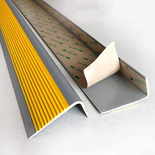 WYJW Borde de la Nariz de la Escalera Borde de la Nariz del peldaño Escaleras de PVC Tira Antideslizante Borde de la Escalera Borde de la Escalera Borde de plástico Resistente y durader