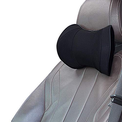 Auto Kopfstuetze Kissen Memory Foam - Autositz Nackenkissen zum Fahren, Komfortabel, Atmungsaktiv, Schwarz
