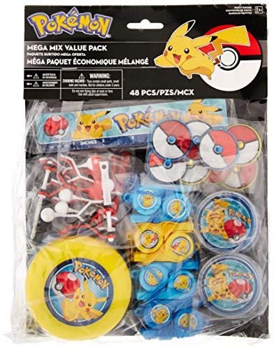 amscan Pokemon Party Favor Toys | Mega Mix Value Pack | 48ct