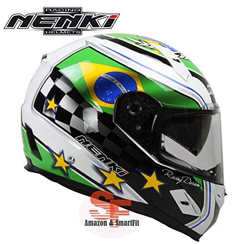 フルフェイス ヘルメット ダブルシールド バイクヘルメット カーボン製 FF856[ブラジル/M]