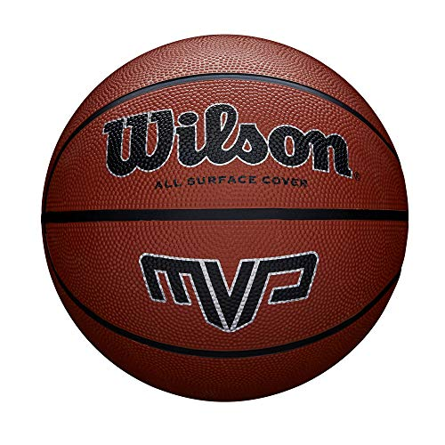 Wilson WTB1417XB05 Pelota de Baloncesto MVP Caucho Interior y Exterior, Unisex-Adult, Naranja, 5