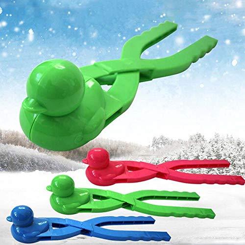 Myhonour Profi-Schneeballzange Outdoor-Winter-Schneespielzeug mit Zwei Bällen für Schneeballschlachten, lustige Winteraktivitäten für Kinder und Erwachsene (2)