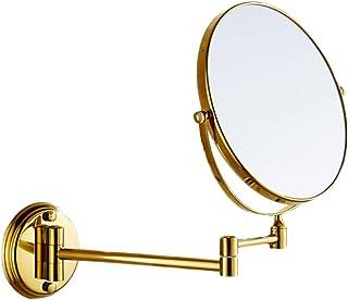 MEYOU Bagno Specchio Ingranditore 5X Ingranditore Girevole a 360 /° per Specchio da Barba Specchio da Parete Estensibile con Lente di Ingrandimento con 3 Impostazioni di Illuminazione