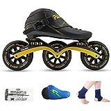 QSs- Patines DE Ruedas, Patines DE Velocidad, Zapatos DE Correr, Patines DE Hielo Profesionales para NIÑOS, Patines DE Hielo EN LÍNEA para Hombres Y Mujeres