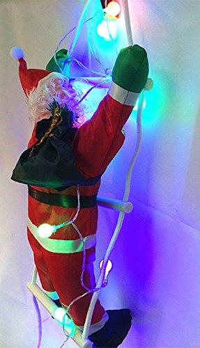 50cm Babbo Natale climbing Ladder indoor outdoor impermeabile figure New