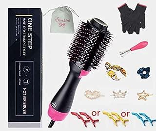 Sunkira Hair Dryer Brush, One Step Hair Dryer and Volumizer- 2 in 1 Volumizing Straightener Styler Negative Lon Hot Air Blow