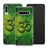 Handyhülle Goa Om für Samsung Silikon MMM Berlin Hülle Mandala Yoga Yin Yang Buddha Peace Hippie, Hüllendesign:Design 1 | Silikon Klar, Kompatibel mit Handy:Samsung Galaxy S10