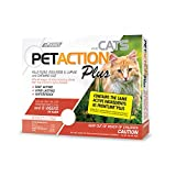 PetAction Plus Flea & Tick Treatment for Cats Over 1.5 lbs, 3 Month Supply (Packaging May Vary)