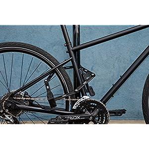 Abus 6500/110 BK SH Candado plegable para bicicleta unisex para adultos, Negro, 110 cm