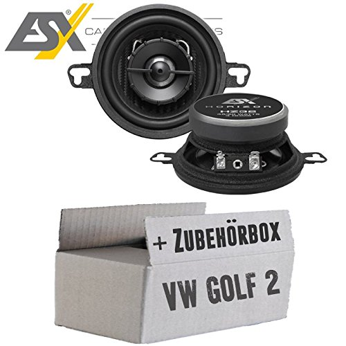 Lautsprecher Boxen ESX HZ32 | 87 mm | 2-Wege Koax | Horizon HZ 32 | 8,7cm | Auto Einbauzubehör - Einbauset für VW Golf 2 - JUST SOUND best choice for caraudio