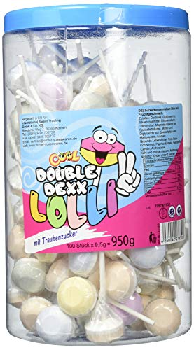 Cool Double Dexx 100 Lollies mit Traubenzucker und Fruchtgeschmack in der Dose, 1er Pack (1 x 950) 21320