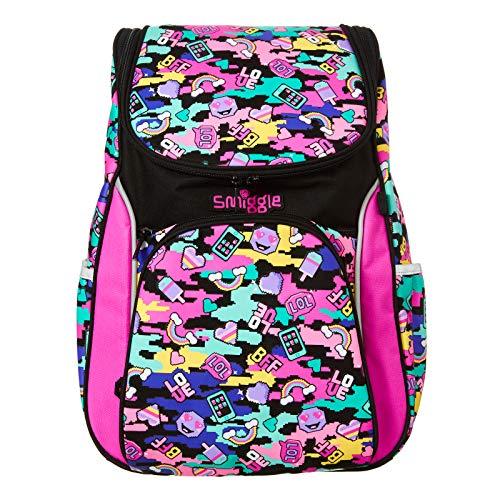 Smiggle Seek Reflektierender Zugang Schulrucksack für Jungen und Mädchen mit Laptopfach, Pink