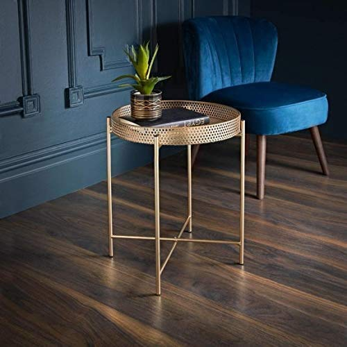Tromso E2B New Unique Stylish Durable Coffee Table Gold Tray Top Table Side Add Some Style To Your Living Room