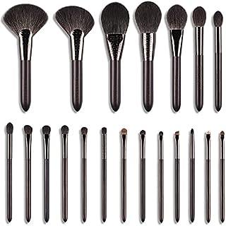 jwj cosmetische borstels Make-upborstel Luxe Gesneden Ebbenhout Dier Hair Series-20pcs Natuurlijke Haar Cosmetische Borste...