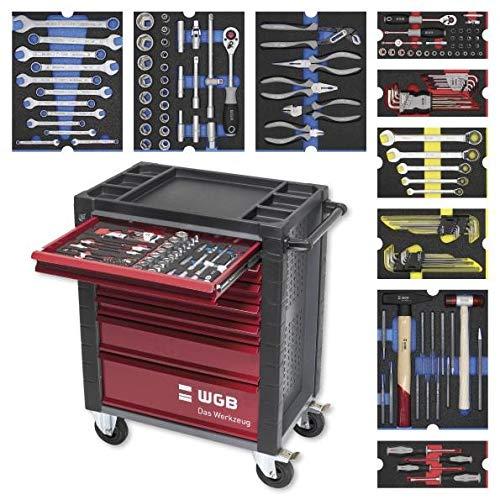 Werkstattwagen bestückt mit 9 Modulen | 7 Schubladen | No.145 | stabile Stahlblechkonstruktion | WGB